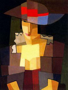 Pensionerosa, óleo sobre tela pegada sobre cartón, 64 x 49 cm, Emilio Petorutti - Colección Natalia Kohem