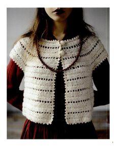 PATRONES GRATIS DE CROCHET: Patrón de una preciosa rebeca a crochet