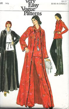 Vogue 9362 Misses Half Size Long Cardigan, Crushed Turtleneck Top, Skirt And Pants Sewing Pattern, Size 14 UNCUT by DawnsDesignBoutique on Etsy Vintage Sewing Patterns, Clothing Patterns, Vogue Patterns, Skirt Pants, Long Cardigan, Turtleneck Top, Size 14, Trending Outfits, Etsy Store