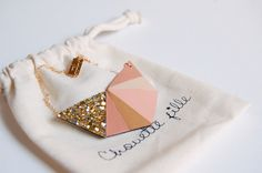 Collier Hexa Blush - Chouette Fille -