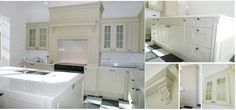 Painted kitchen in Farrow & Ball 'Bone'. Manufactured by KB Store Trade.