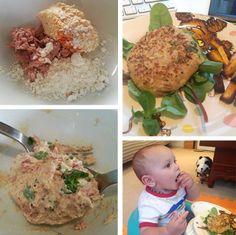 Hummus & Tuna Fish Cakes Baby Led Weaning Recipes from peanutdiaries.com