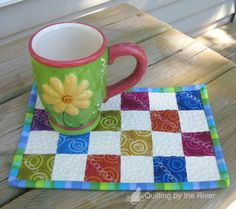 Quilting by the River: Mug rugs