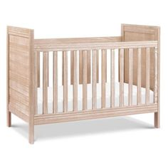 Inspired by farmhouse style furniture, the DaVinci Fairway Convertible Crib features a weathered scratch finish and shiplap-inspired headboard. The rustic crib can be converted to a toddler or day bed (kits sold separately). Wood Crib, Wood Nursery, Nursery Ideas, Nursery Decor, Nursery Rugs, Nursery Design, Rustic Crib, Nursery Paint Colors, Traditional Cribs