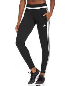 The slim, tapered fit of the Adidas Tiro 15 Pant lets you move, while their knit ClimaCool fabric keeps you comfortable. | Polyester | Machine washable | Imported | Mid rise: waistband sits below natu
