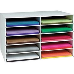 Classroom Keepers Construction Paper Storage, 12 inch x 18 inch, White