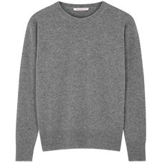 Christopher Kane Grey metallic-trimmed wool blend jumper (1.730 BRL) ❤ liked on Polyvore featuring tops, sweaters, drop shoulder tops, christopher kane, christopher kane sweater, grey sweater and gray sweater