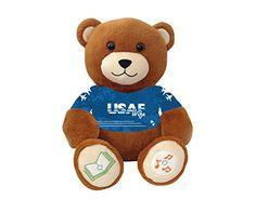 """United States Air Force Wife Bluetooth music-playing teddy bear - """"My Husband..."""" VictoryTeddyBear http://www.amazon.com/dp/B00SC99T1W/ref=cm_sw_r_pi_dp_a5X8vb01MZ44K"""