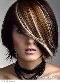 chunky hihlights for hair | Medium Hair Highlights Idea