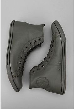 Converse Leather Hi Top.  reposted by www.bluesquareclothing.com