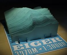 3D Paper Model of Eiger Mountain