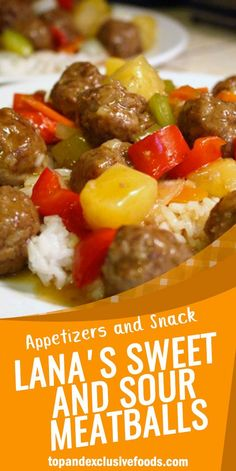 Lana's Sweet and Sour Meatballs – Quick Family Recipes Sweet N Sour Meatball Recipe, Chilli Chicken Recipe, Sweet And Sour Meatballs, Quick Family Meals, Quick Meals, Family Recipes, Frugal Meals, Easy Dinners, Healthy Crockpot Recipes