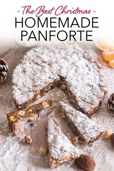 Panforte is a delicious Italian fruit cake from Siena, made with honey, nuts and candied fruit. The perfect Christmas cake to share with friends and family. Try this easy Christmas dessert recipe over the holidays! #panforte #Italiancake #fruitcake #Christmascake