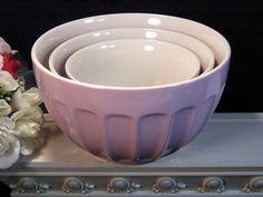 Vintage Williams Sonoma Emile Henry Pink Nested Mixing Bowl Set