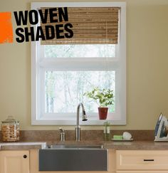 Woven shades, bamboo shades, or woven wood blinds -- they are all window treatments that lift vertically and are made up of natural plants woven together.