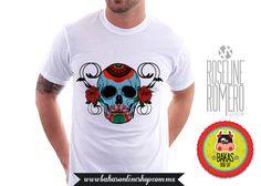 Playera - camiseta Hombre Calavera de bakasonlineshop en Etsy