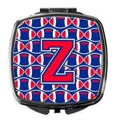 Letter Z Football Harvard Crimson and Yale Blue Compact Mirror CJ1076-ZSCM