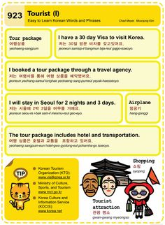 Easy to Learn Korean 923 - Being a Tourist in Korea (Part One). Chad Meyer and Moon-Jung Kim EasytoLearnKorean.com An Illustrated Guide to Korean
