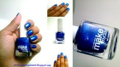 ¿Nos conocemos? Esmaltes Make my day #swatches #nails #uñas #comotepintaste #esmaltes #polish #blue #makemyday #azul #dominga
