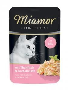 Miamor Feine Filets Thun & Krebs 100g Calamari, Filets, Jello, Pet Shop, Cover, Buffy, Sauce, Cats, Meal