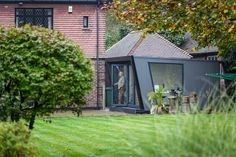 Case study of a garden room installation of Hyperion composite cladding Composite Cladding, Garden Office, Gazebo, Outdoor Structures, Gallery, Outdoor Decor, Green, Room, Workshop