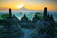 Borobudur Temple in Jogyakarta, Indonesia. Amazing site!