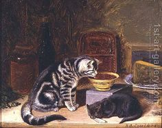 Two Cats  Horatio Henry Couldery