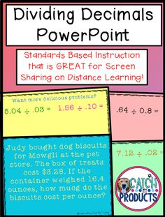 Teach math problem solving & word problem activities to 5th grade elementary or 6th middle school student on virtual dividing decimals through PowerPoint screen share for kids. Great distance learning, home school, classroom or digital instruction. Curriculum & core standards easy w/ Teachers Pay Teachers lesson. (Level 5, 6) #teachersfollowteachers #iteachmath #iteachtoo #education #tpt Help understand mathematics w/ clear skills & ideas to engage & challenge on Teacher Pay Teachers… Upper Elementary Resources, Elementary Math, Math Skills, Math Lessons, Dividing Decimals, Teaching Math, Teaching Resources, Powerpoint Lesson, Math Problem Solving
