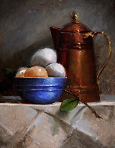 Copper Pot with Eggs