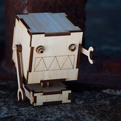 "Get your very own wooden #robot assembly kits. ""V.V.V.V."" now available on @Kickstarter! Find it at http://ift.tt/1IYScCY  #kickstarter #crowdfunding #madewithkickstarter #startup #craft #wood #bamboo #lasercut #adorable #cute by robomustache"