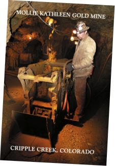 Mollie Kathleen Gold Mine great tour reviews $18 adult - $10 kids about 1 hr west of Colorado Springs, CO