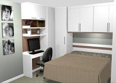 O AMBIENTE IDEAL: Dormitórios com cama embutida