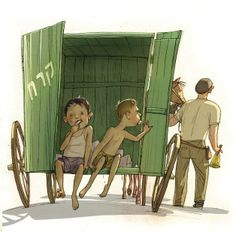 """Israeli illustrator, Lena Guberman, illustration for the book """"Raanana""""."""
