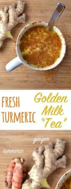 Fresh Turmeric Golden Milk Tea This comforting tea kind of tastes like a spicy Chai (though you can put in fewer spices if you want a more mild taste). has been shown to have many health benefits including helping with insomnia and - Milk - Ideas of Milk Golden Milk Tea, Turmeric Golden Milk, Fresh Turmeric, Turmeric Tea, Healthy Drinks, Healthy Tips, Healthy Eating, Healthy Recipes, Healthy Women