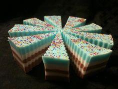 A full soap cake from Soap Box Ottawa!  www.facebook.com/soapboxottawa
