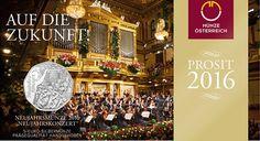 5 Euro Silber Neujahrskonzert - Neujahrsmünze 2016 PN
