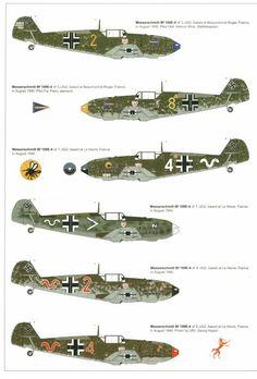 Messerschmitt Bf 109E-4's, France 1940
