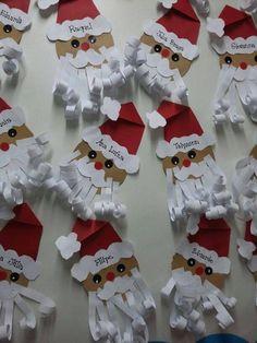 ✔ Christmas Decorations For Kids Santa Christmas Decorations For Kids, Christmas Arts And Crafts, Preschool Christmas, Christmas Activities, Christmas Projects, Kids Christmas, Holiday Crafts, Christmas Cards, Christmas Ornaments