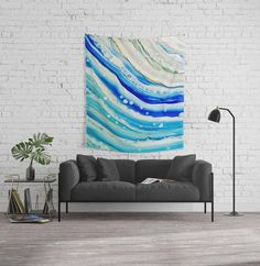 Wall tapestry made with one of my original paintings. This wall tapestry is made of 100% lightweight polyester. Hand-sewn finished edges. Featuring vivid colors and crisp lines. Durable enough for both indoor and outdoor use. Machine washable in cold water on gentle cycle using mild