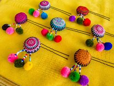 Hmong Hairpin/ Accessories/ Ethnic/ Embroidery/Colorful/Tribal/Whole Sale