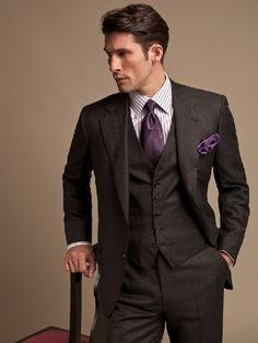 Three piece Brioni suit. Who said workwear was a chore?