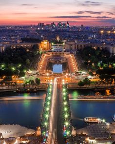 """As cliché as it may sound admiring the sun setting from the Eiffel Tower is definitely an Experience! Here it's the view in its full colours.  Thanks to @pariscityvision for giving me the chance to see this Their """"Paris by night"""" tour is definitely recommended"""