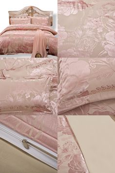 Cheap king comforter cotton, Buy Quality comforter bed in a bag directly from China king size plaid bedding Suppliers: Tribute Silk Bedding Smooth Touch Jacquard Bed Sheet Anti-pilling Super Soft Pink Duvet Cover Set Queen King Drop Shipping Plaid Bedding, Silk Bedding, Cheap Bedding Sets, King Comforter, Home Textile, Duvet Cover Sets, Bed Sheets, Comforters, Smooth
