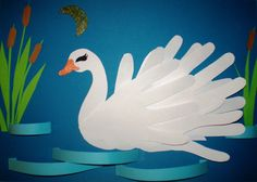 Lebăda K Crafts, Crafts For Kids, Arts And Crafts, Paper Crafts, Kindergarten Art Lessons, Preschool Art Activities, Kids Art Class, Art For Kids, Goose Craft