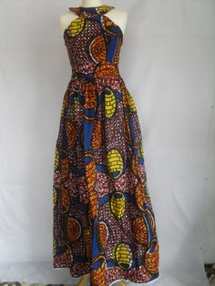 Ankara Print Sleeveless Dress Maternity Dress by McoyeCouture