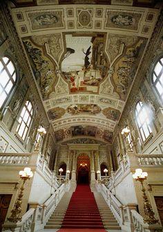 Klimt,Gustav.Vienna Burgtheatre (Court Theatre),staircase (left): Theatre in Taormina,1884 See also:40-17-06/65-70,40-16-02/2-4,40-17-05/59,60