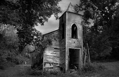 This little church was once called St. Luke Baptist Church but nicknamed Little Zion. It was built by and for the African American slaves in 1883. The land was once part of the Cleona Plantation. Taken in Chackbay, Louisiana. by SalemCat