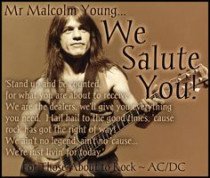 Malcolm Young ~ AC/DC </3