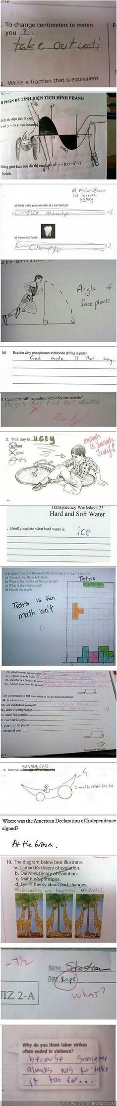 How to fail a test and be the coolest kid ever.  So funny.  I love kids.