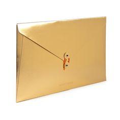 Gold Soft Cover Folio,Gold,hi-res